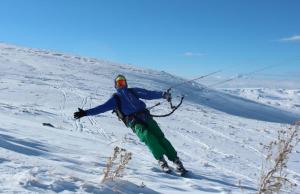 snowkiten bij kitemobile met Matthijs Katsma