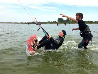 kitesurf waterstart
