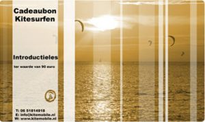 cadeau bon voor kitesurfen in Nederland bij kitesurfschool KiteMobile