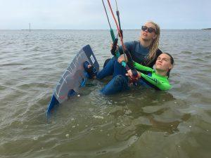 waterstart kitesurfen