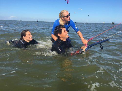Body draggen kitesurfen in Friesland
