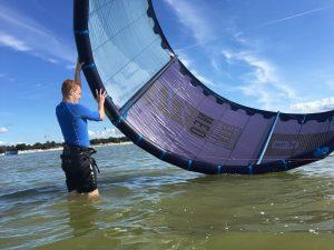 kite Wasser start