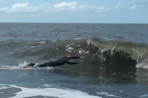Nationaal openlucht pretpark Schiermonnikoog. Surfen