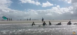 Kitesurf actie Storm Schiermonnikoog