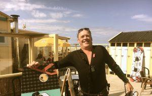 Bert Fischer is ready voor kitesurfen