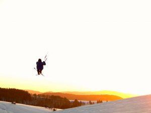 snowkiten met Kitemobile in Duitsland en Zwitserland