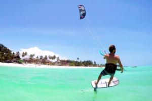 Tijdens de vakantie foilen leren met een kite