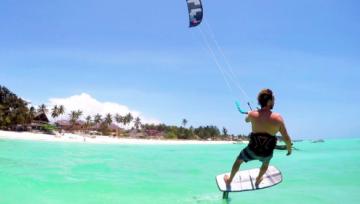 Leren foil kiten tijdens de Vakantie