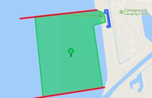 kitesurfen leren in ondiep water bij kitezone Workum in Friesland