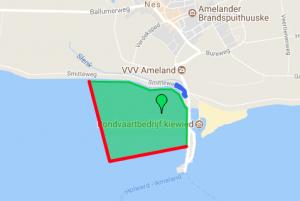 kitesurf locatie wadkant Ameland