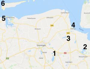 Google Maps overzicht kitesurfen in Groningen