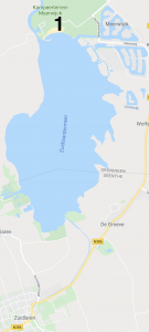 google map overzicht kitesurfen Zuidlaardermeer