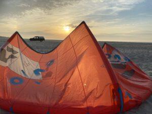 kite op het strand