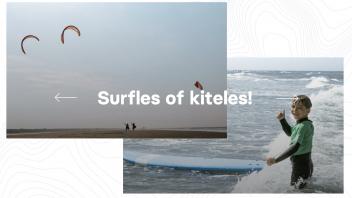 kitesurfen en golfsurfen familie